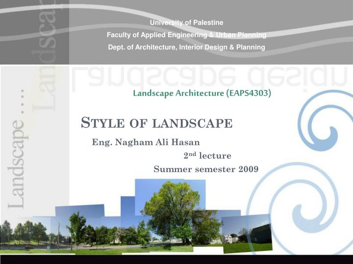 style of landscape n.