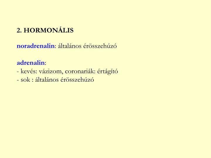 2. HORMONÁLIS