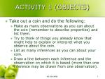 activity 1 objects