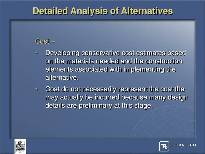 Detailed Analysis of Alternatives