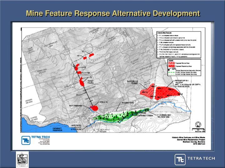 Mine Feature Response Alternative Development