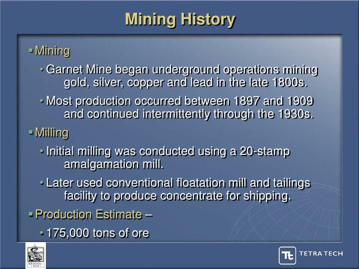 Mining history