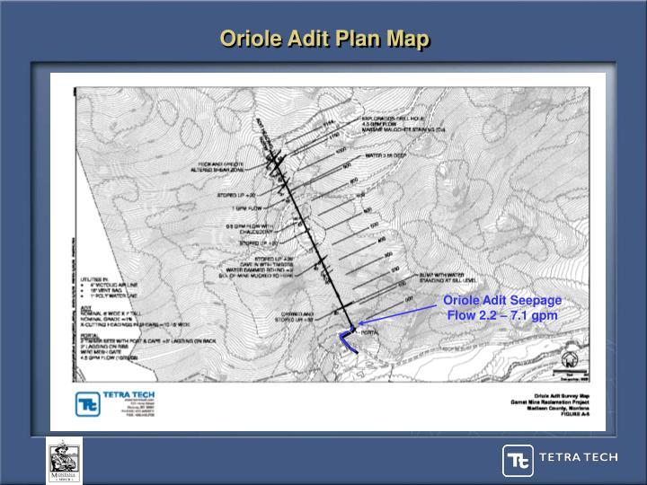 Oriole Adit Plan Map