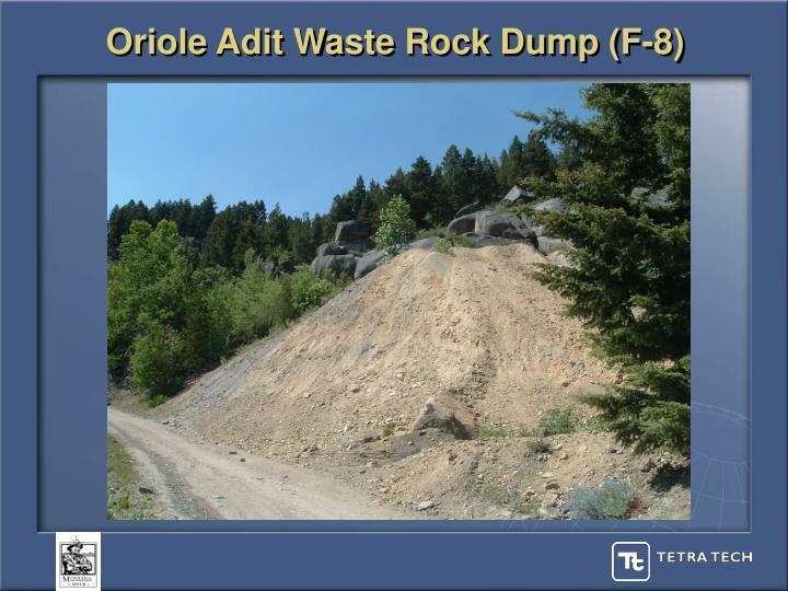Oriole Adit Waste Rock Dump (F-8)