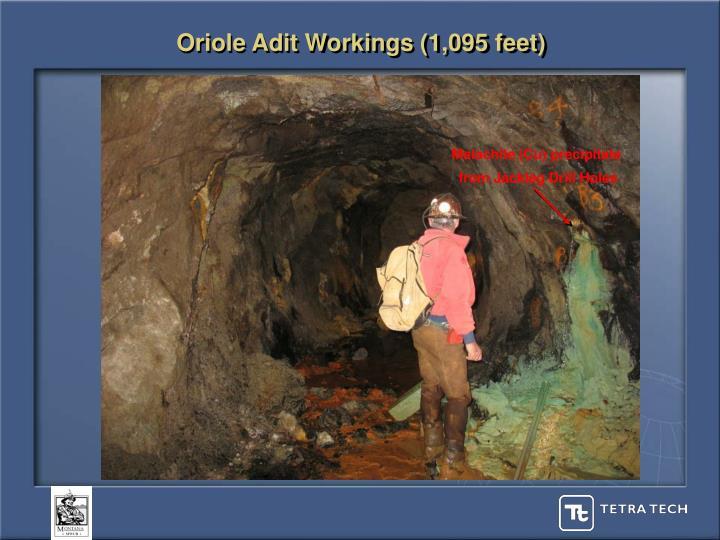Oriole Adit Workings (1,095 feet)
