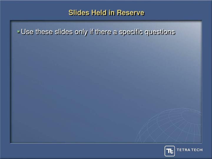 Slides Held in Reserve