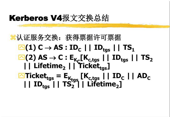 Kerberos V4