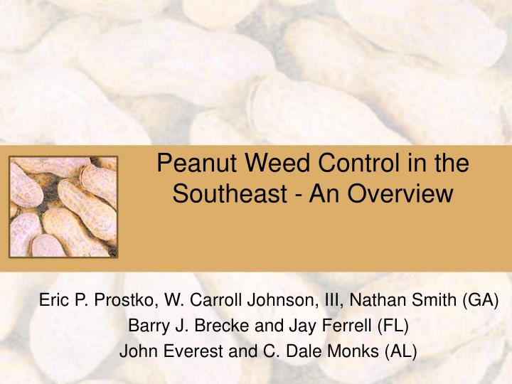 peanut weed control in the southeast an overview n.