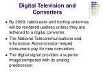 digital television and converters