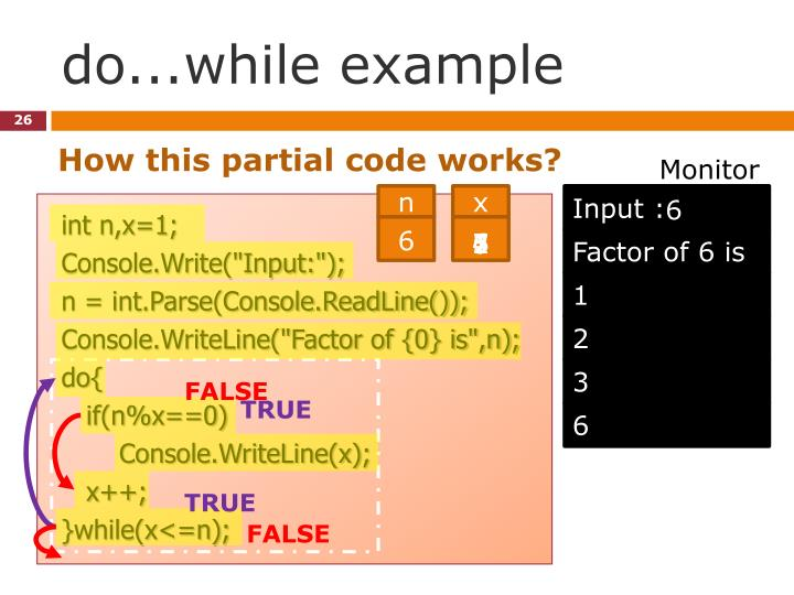 do...while example