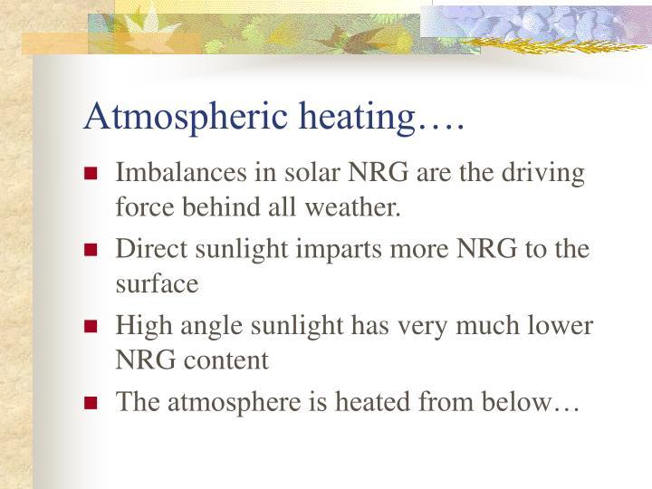 Atmospheric heating….