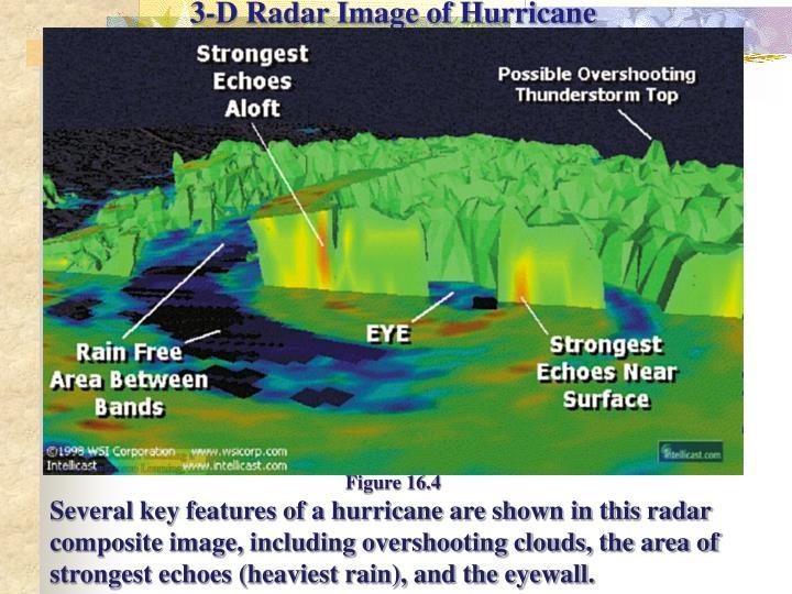 3-D Radar Image of Hurricane