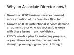 why an associate director now1