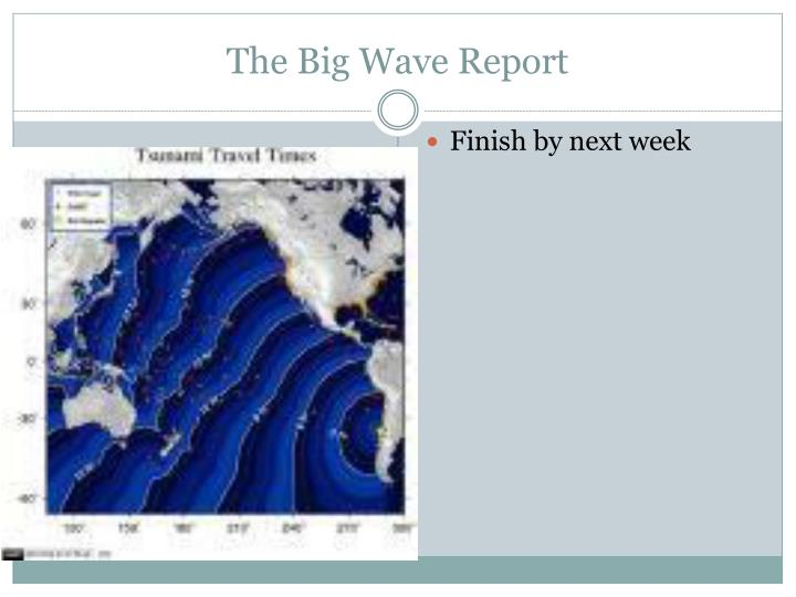 The Big Wave Report