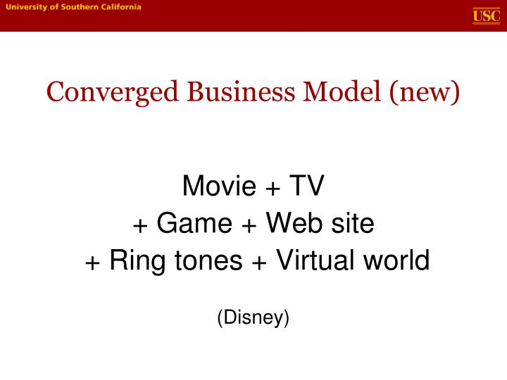 Converged Business Model (new)