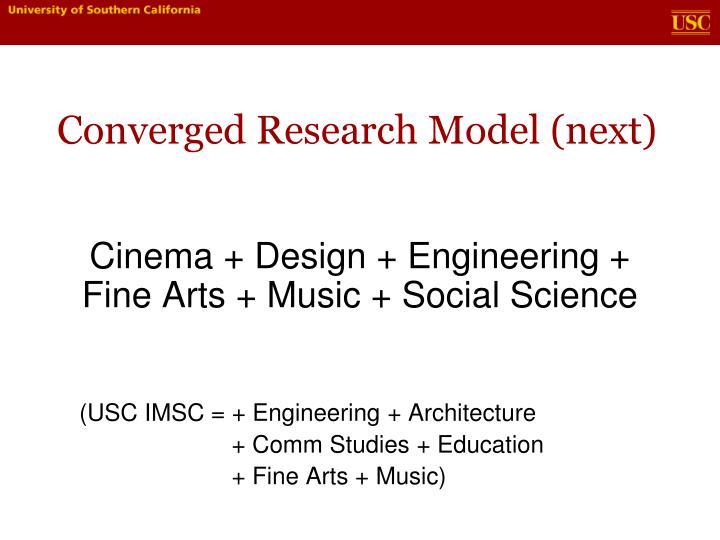 Converged Research Model (next)