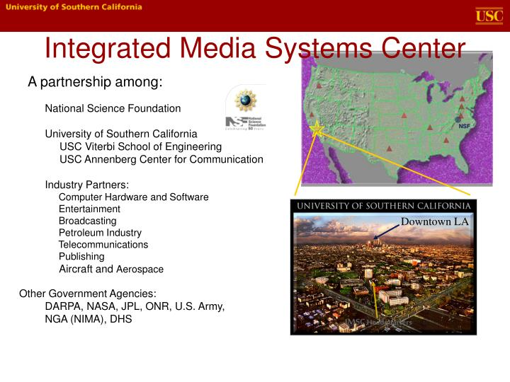 Integrated Media Systems Center