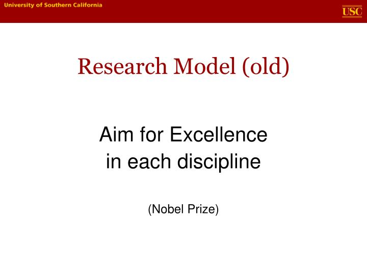 Research Model (old)