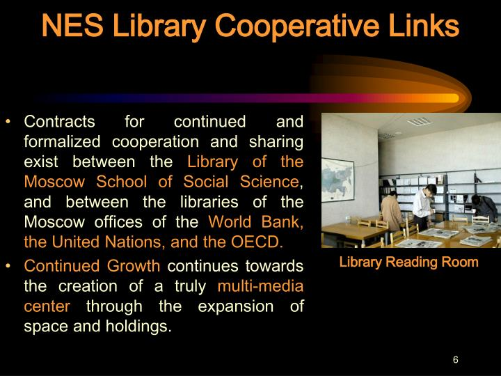 NES Library Cooperative Links