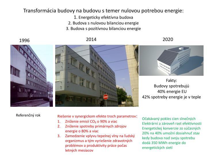 Transformácia budovy na budovu s temer nulovou potrebou energie: