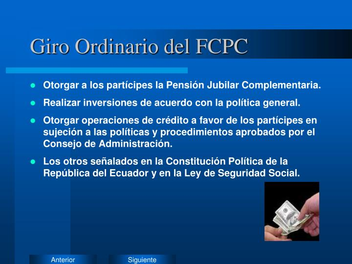 Giro Ordinario del FCPC