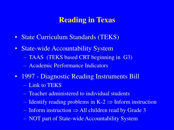 Reading in Texas