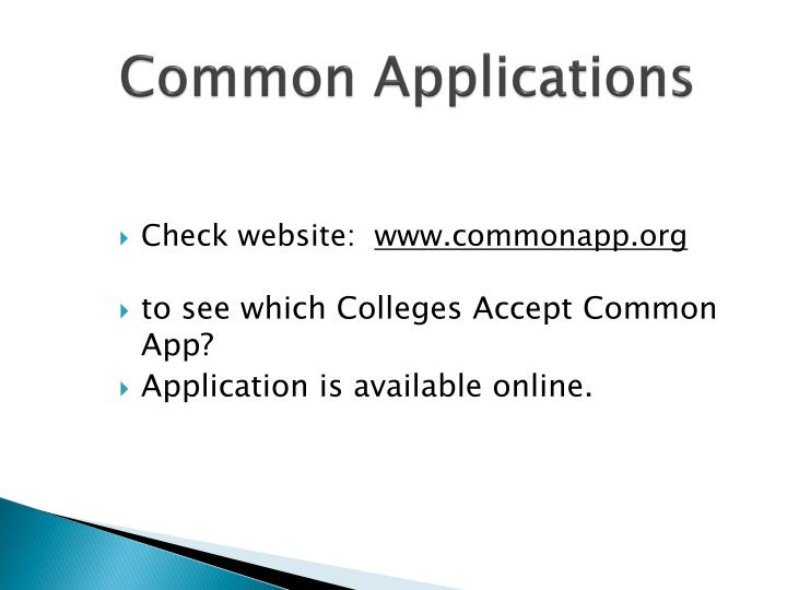 Common Applications