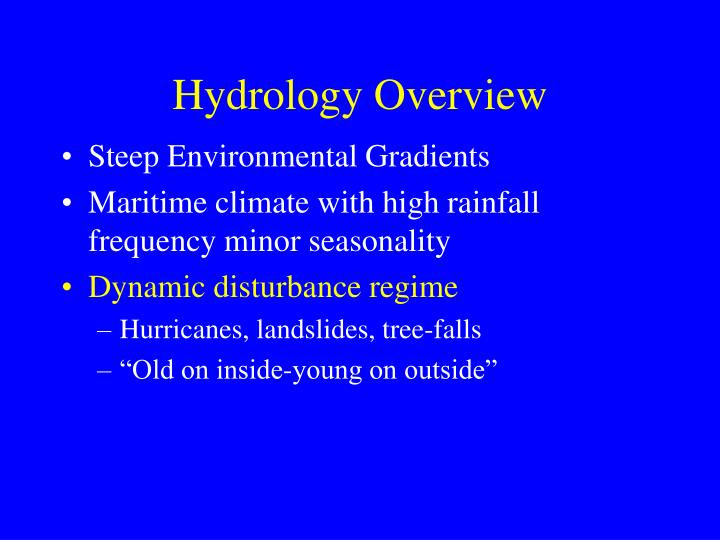 Hydrology Overview