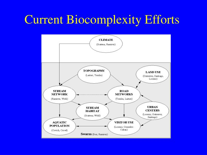 Current Biocomplexity Efforts