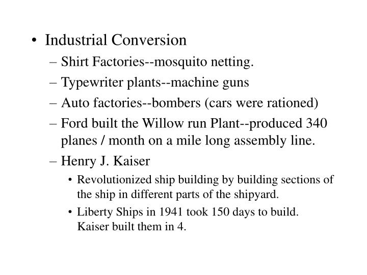 Industrial Conversion