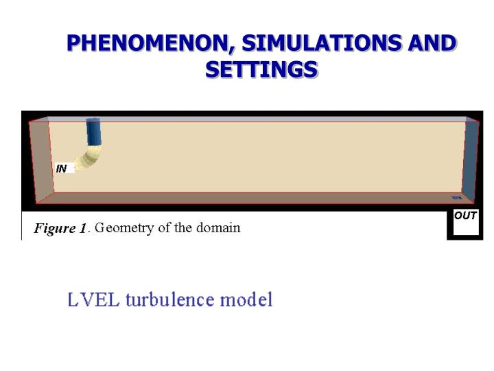 PHENOMENON, SIMULATIONS AND SETTINGS