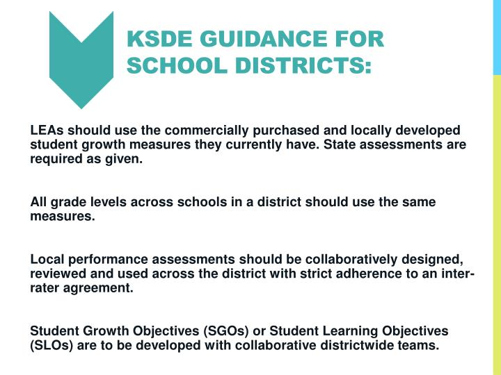 KSDE Guidance for school districts: