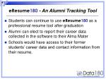 eresume 180 an alumni tracking tool