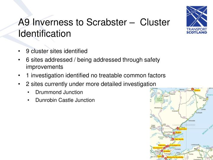 A9 Inverness to Scrabster –  Cluster Identification