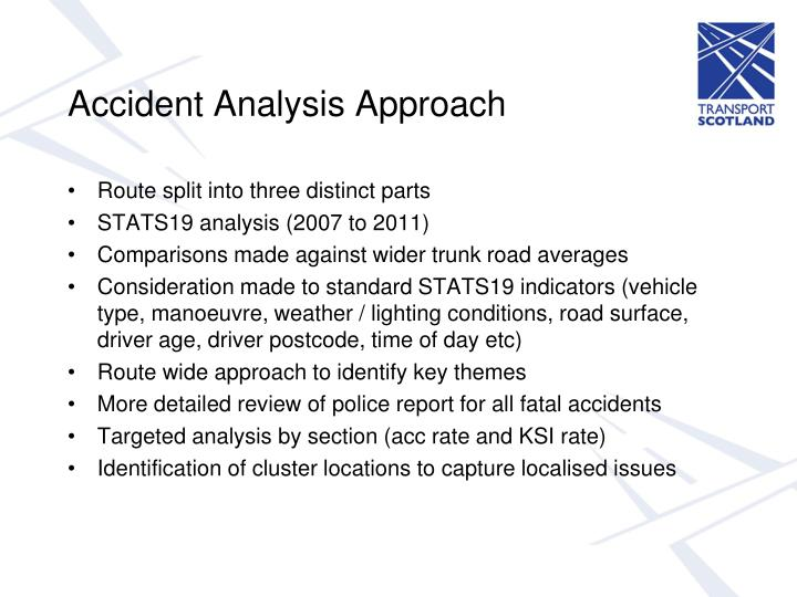 Accident Analysis Approach