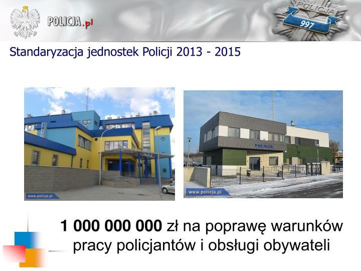 Standaryzacja jednostek Policji 2013 - 2015