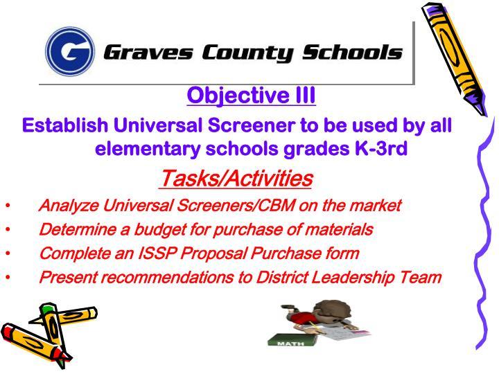 Objective III