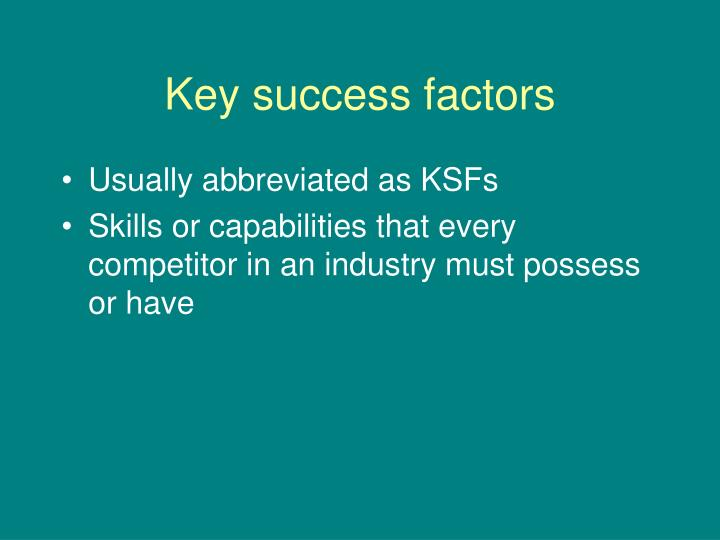 key success factors of petroleum industry The human factors information papers series is a long-term project which will progressively deliver information on human factors issues relevant to the offshore petroleum industry it is designed to provide guidance about the contribution of human factors knowledge to risk minimisation within australia's objectives-based regime.