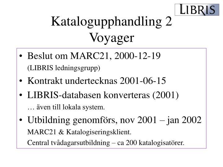 Katalogupphandling 2
