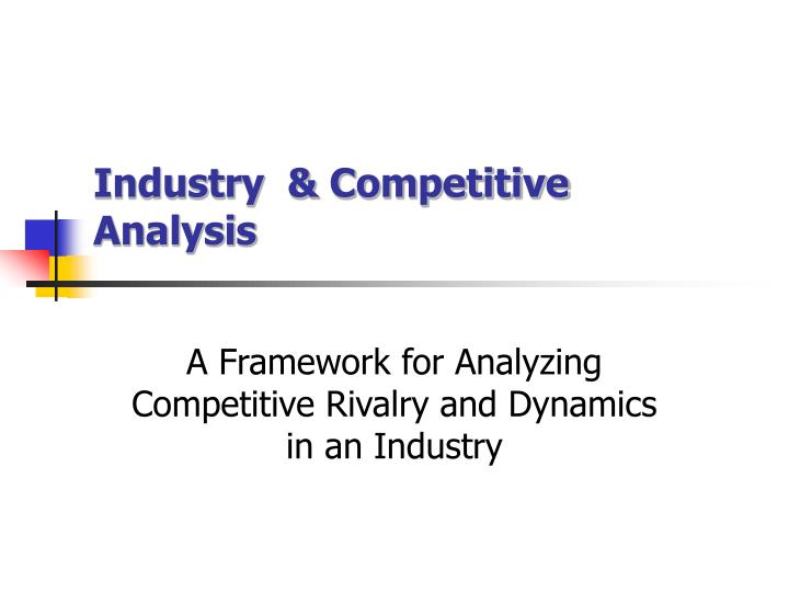 industry competitive analysis n.