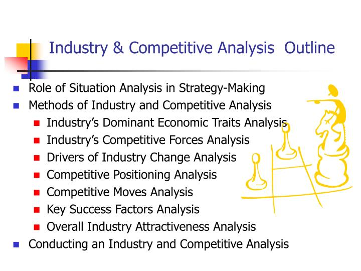 industry analysis outline Environmental business analysis looks at the impact of internal and external environmental factors (like changes in the market or in hr) on your business.
