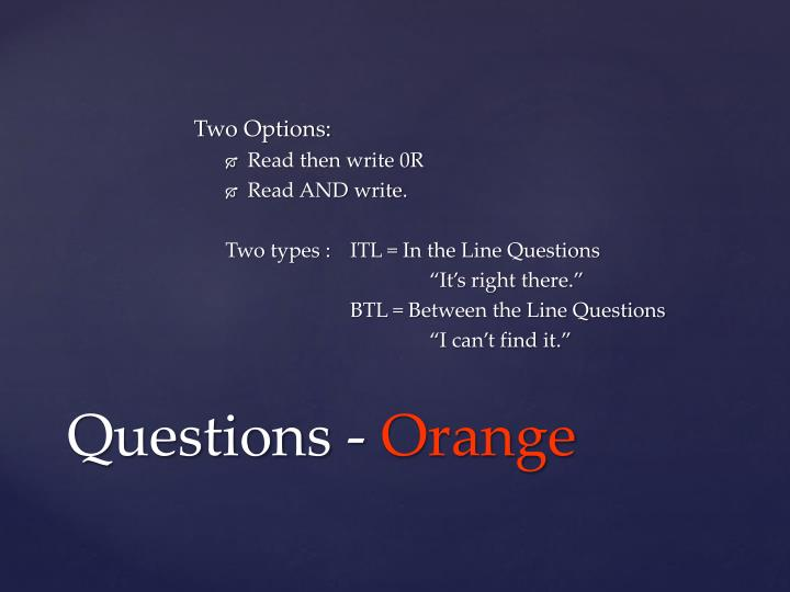 Two Options: