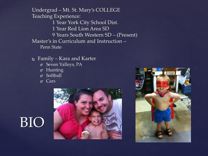Undergrad – Mt. St. Mary's COLLEGE