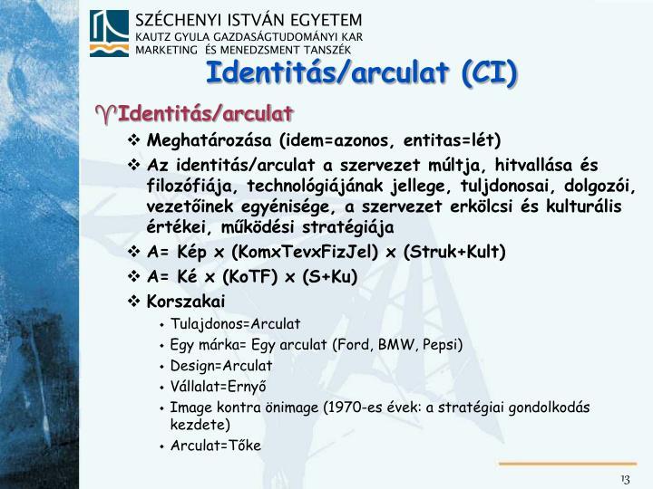 Identitás/arculat (CI)