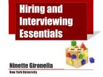 hiring and interviewing essentials