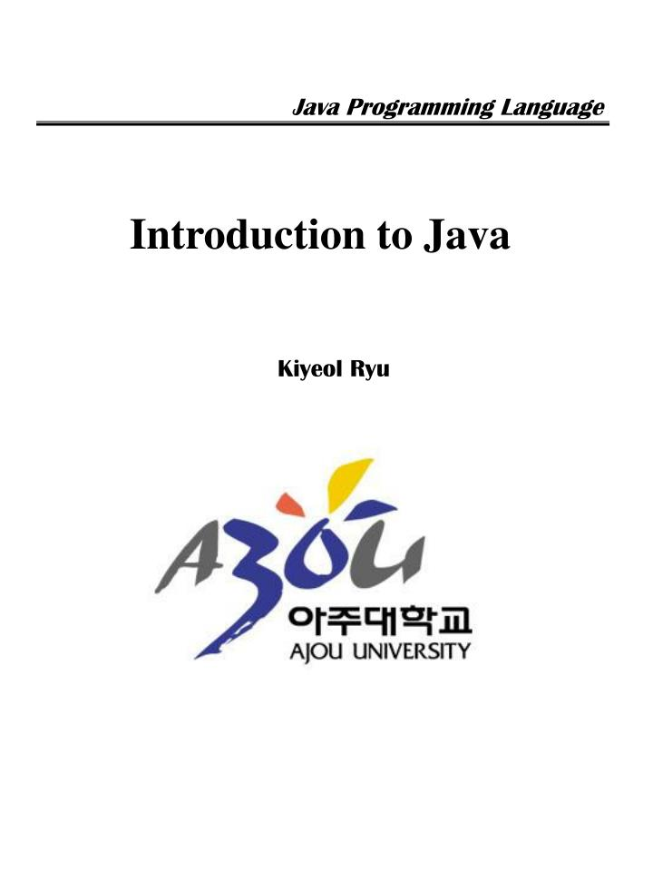 introduction to java n.