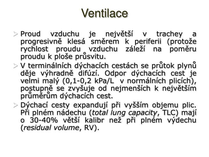 Ventilace