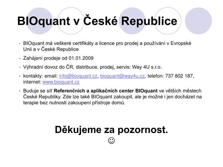 BIOquant v České Republice