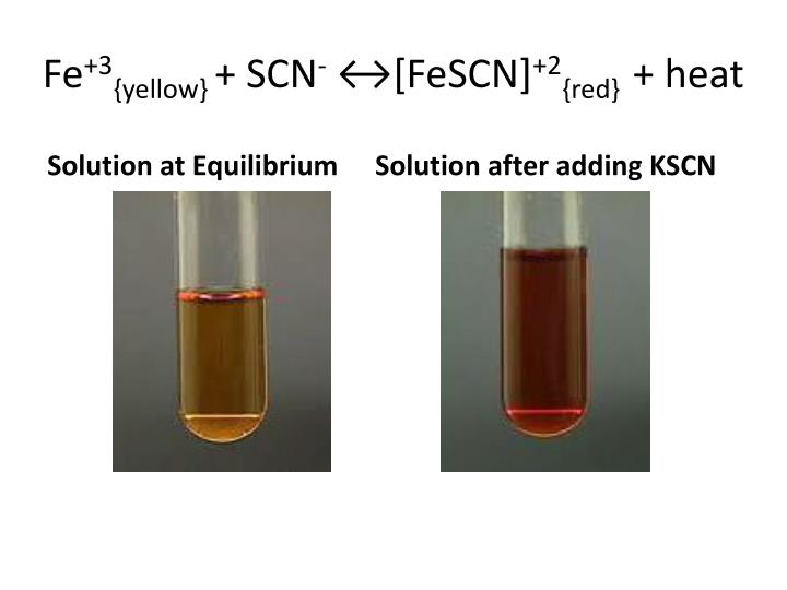 fe scn 2 _PPT - Virtual LeChatelier's Principle Lab PowerPoint Presentation - ID:5061060