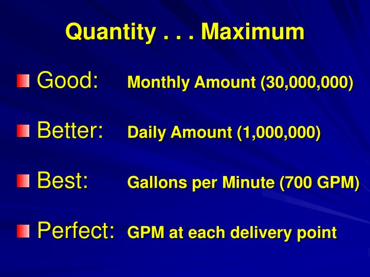 Quantity . . . Maximum